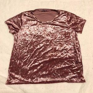 Plus Size Crushed Velvet T Shirt
